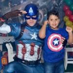 personagem para festa infantil Capitão América