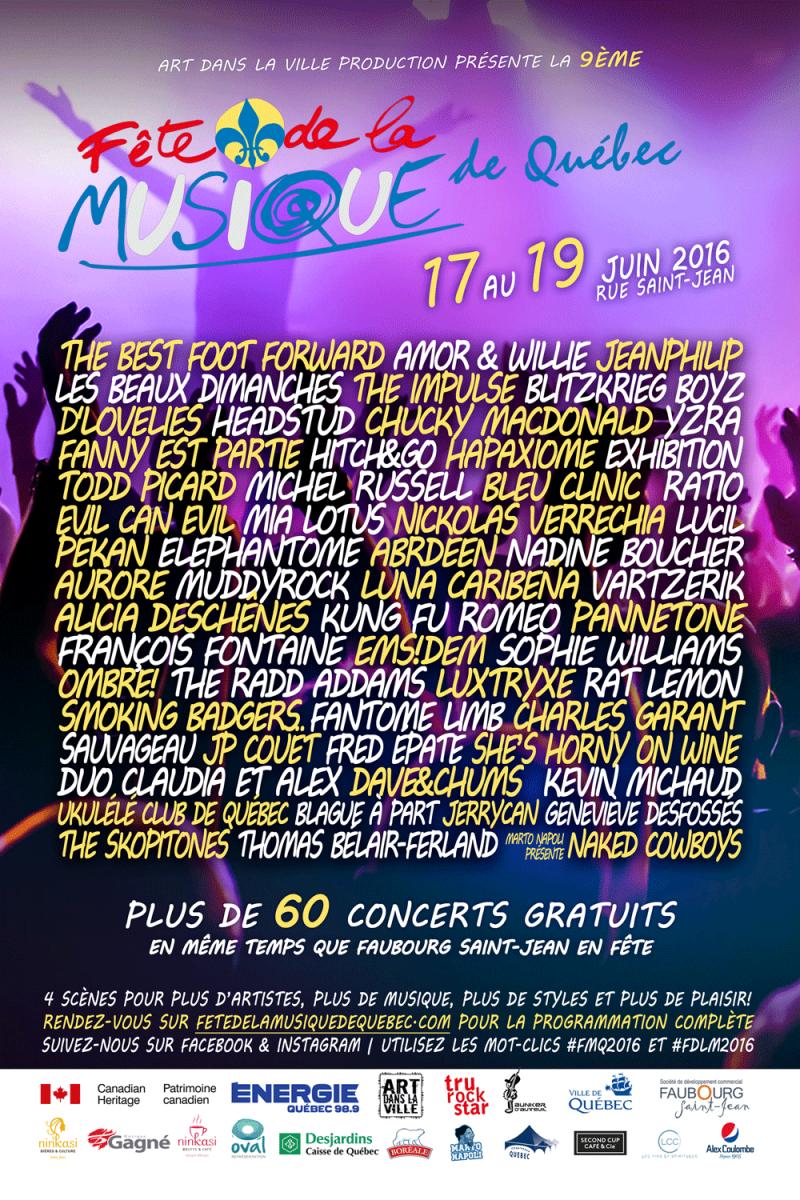 Fête de la Musique de Québec 2016