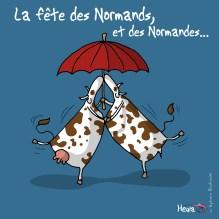 Dessin de Heula pour la Fête Des Normands. Retrouvez Heula sur http://www.heula.fr