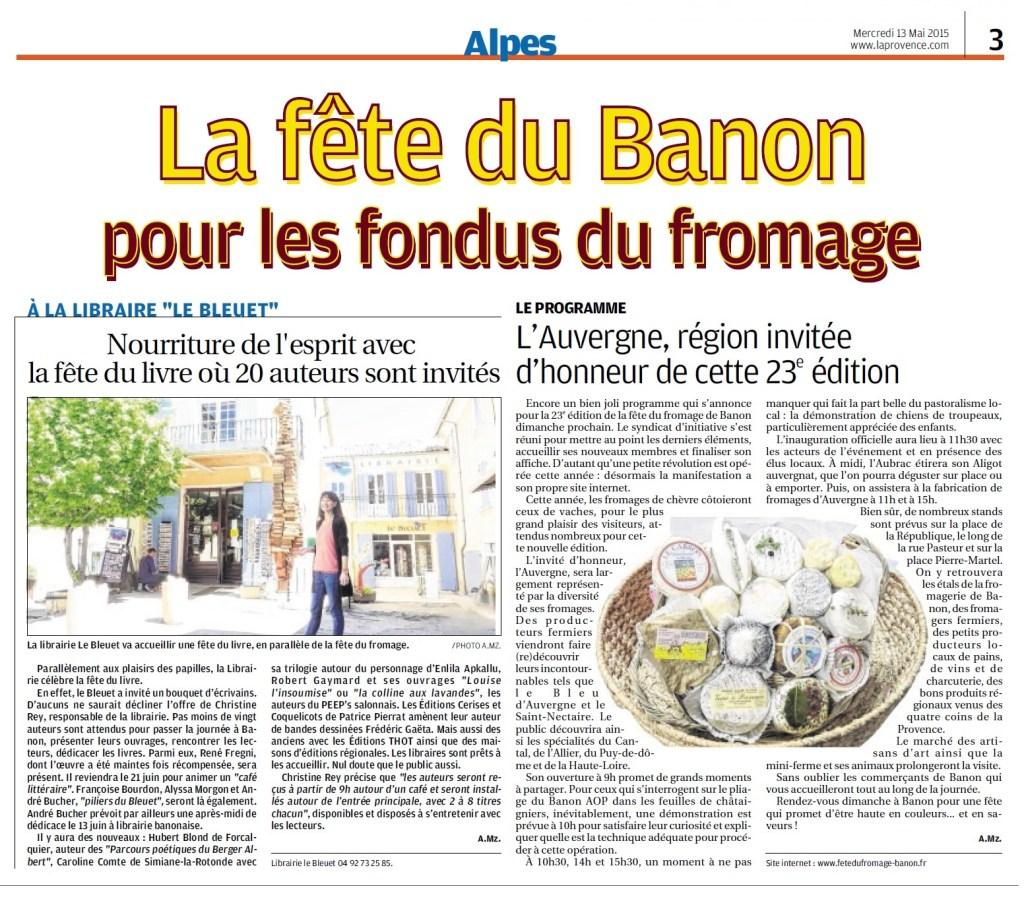 2015-05-13 Banon - fête fromage et livre