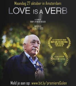 Premiere filmvertoning over Fethullah Gulen en de Gulenbeweging: Love is a verb uitnodiging