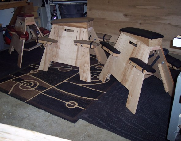 maple spanking benches