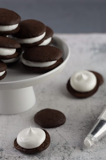 Chocolate Whoopie Pies med Marshmallow Fluff! (Keto)
