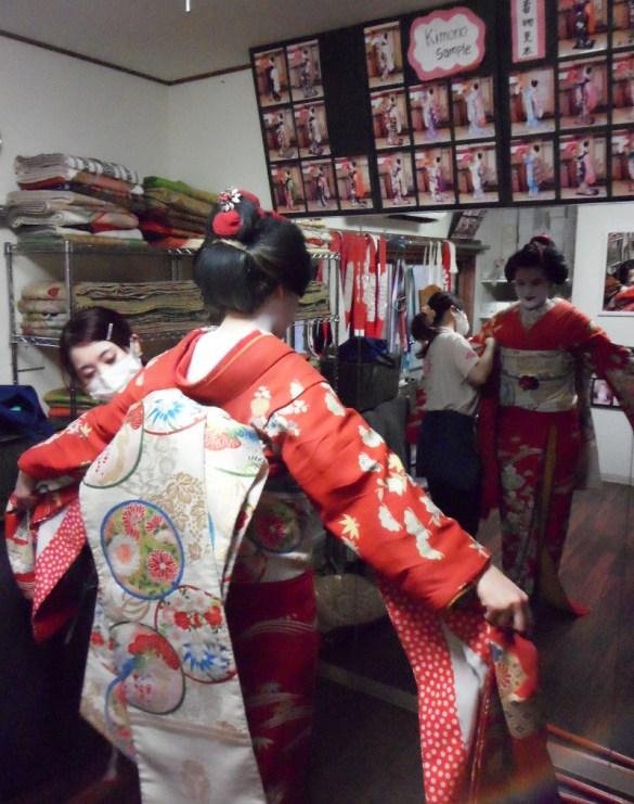 Aya Geisha Makeover - Kimono Fitting