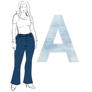 Jeans A-Figur