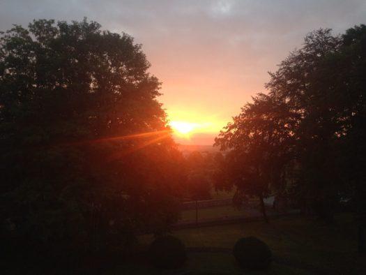 Sonnenaufgang Hümpfershausen
