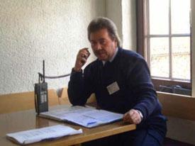 Harald Bender während der Ausbildung