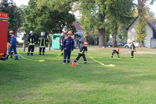 Übung Kinderfeuerwehr am 30.09.17