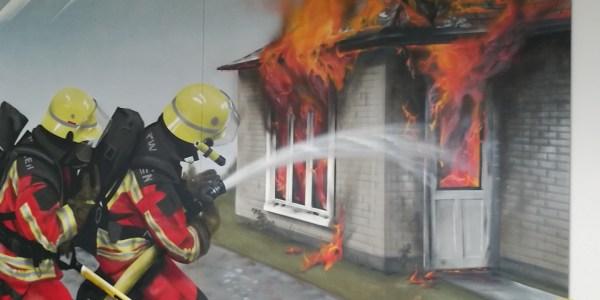 Brandbekämpfung frontal