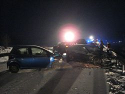 Auf glatter Fahrbahn kam es auf Höhe Rieblingen zu einem Verkehrsunfall mit mehreren beteiligten Fahrzeugen.