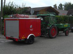 Tragkraftspritzenanhänger der Feuerwehr Rieblingen. Im Einsatz bis 2010.