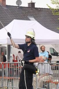 2.Komandant Florian Haslinger beim Absichern