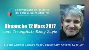 Dimanche 12 Mars boussy saint antoine / culte à 10h