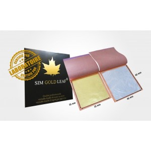 LOT 10 Feuilles d'or (35mm x 35mm) + 10 feuilles d'Argent (40 mm x 40mm)