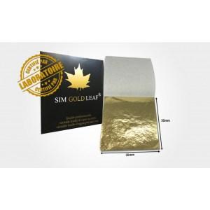 feuille d'OR 35mm x 35mm 24 carats pur qualité professionnelle (10/20/50/100 feuilles)