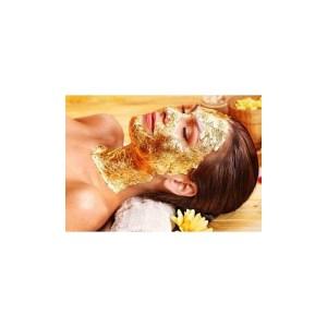25 Feuilles d'or 80mm x 80mm pour masque visage SPA esthetique