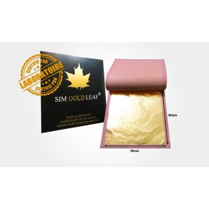 feuille d'Or 80mm x 80mm 22 carats special doreur (10 ou 25 feuilles)