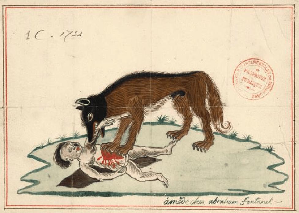 Un enfant dévoré par des bêtes farouches, Soucelles, 1697.