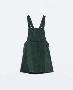 Bottle Green Pinafore Dress from Zara