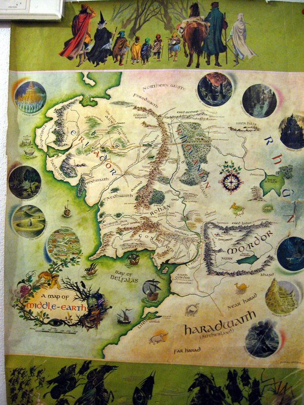 Map Of Middle Earth, by NightRPStar - Flickr
