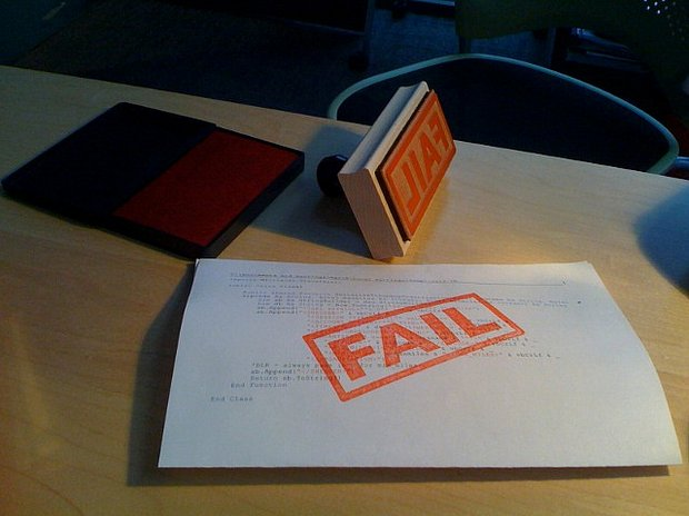 Fevered Mutterings image: FAIL stamp, by hans.gerwitz - Flickr