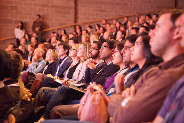 audience at TED talk