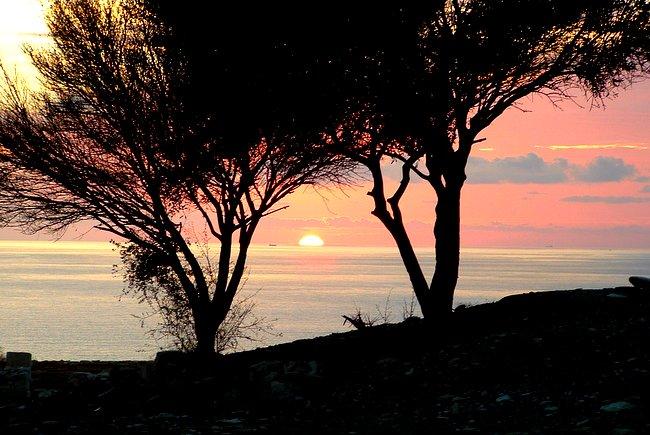 Sunset at Curium, Syprus