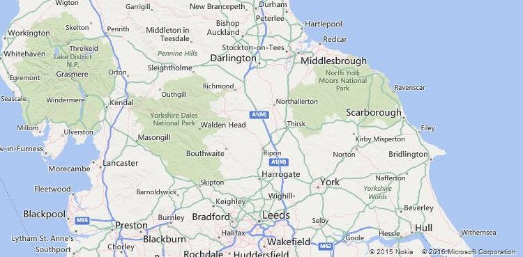 North York Moors - Bing Maps