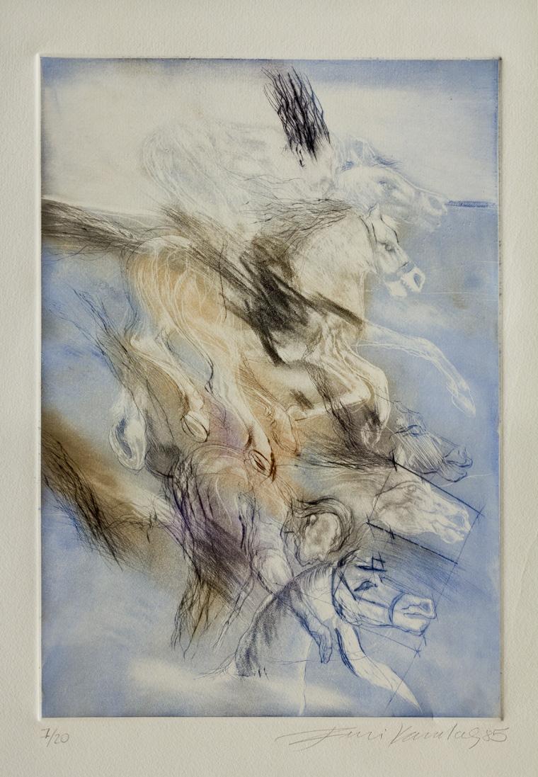 Bitiş Çizgisi 1985 33x25 cm. Gravür