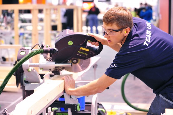 Joe Price, Advanced Apprentice of the Year 2011, competing at WorldSkills London.