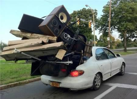 Overpacked Car Moving Fail