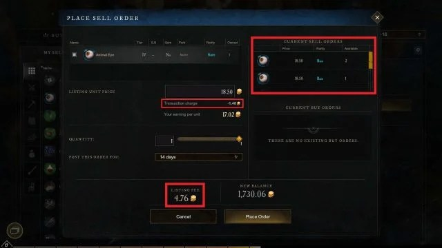 Place Sell Order in Trading Post New World Gold Guide How to Farm Gold As A Beginner