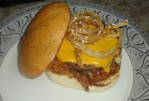 The pulled pork sandwich!