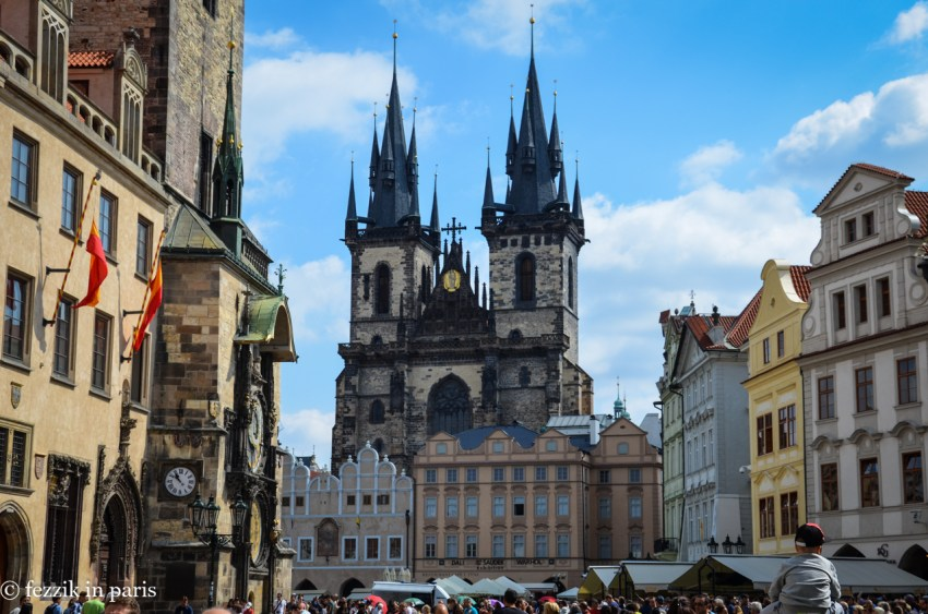 Church of Our Lady before Týn. I like the spires.