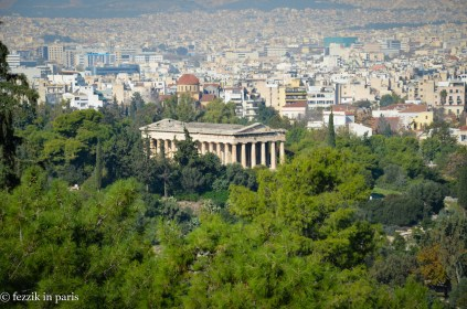 We're on our way down to this temple (of Hephaestus).