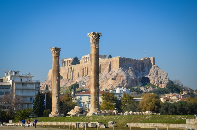 Meta: the Acropolis as seen from the Temple of Olympian Zeus.