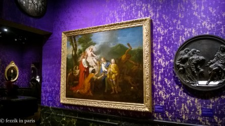 The lovely purple-silk-lined rooms were essentially a brief history of Louis XIV's reign, as told through various pieces of fine art.