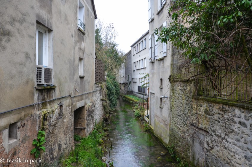 One of two (very hard water - it was apparently responsible for the dye that Provins was once known for) rivers that run through the town.