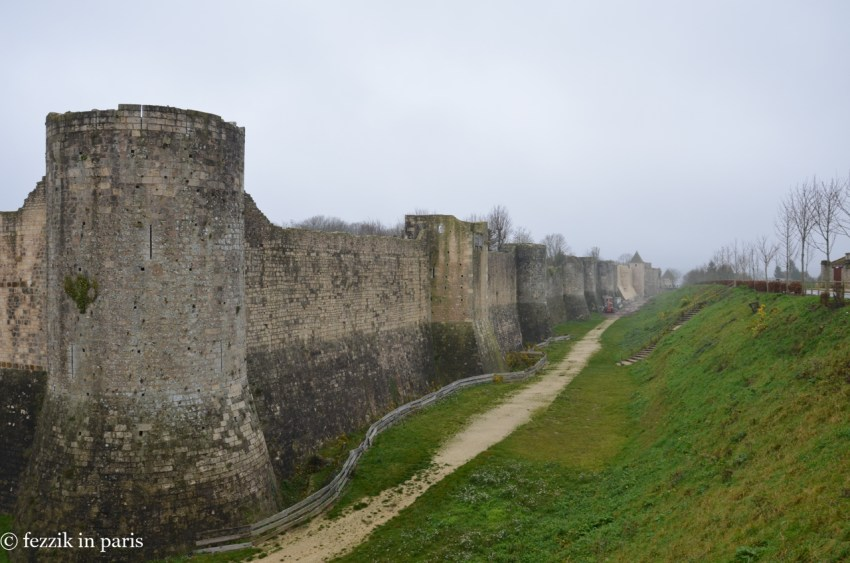 Had it not been so muddy, we would likely have walked along the trail next to the walls.