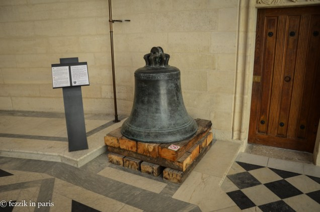 The original bell from the belltower/horloge.