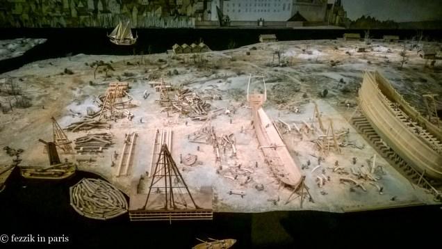 A nice model of the shipyard.
