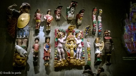 Reproductions of the garish decorations that were affixed to the rear of the vessel.
