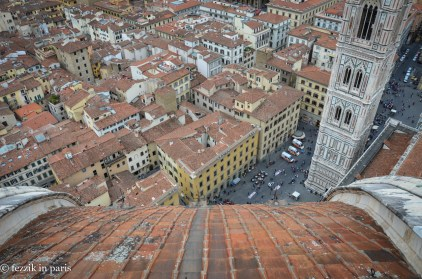 Florence as seen from Il Duomo's cupola.