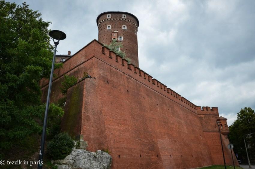 The backside of Wawel Castle.