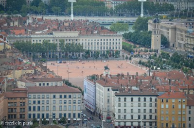 Bellecour, as seen from Fourvière.