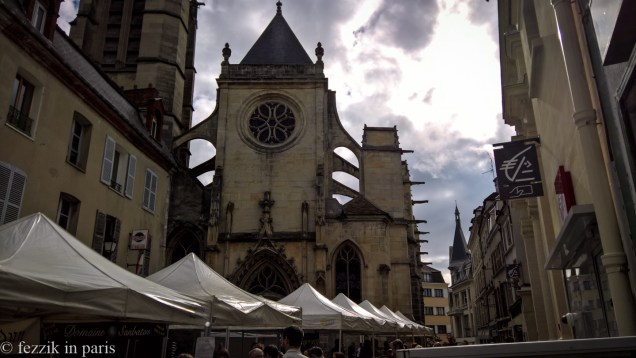 Church the second, towering over the local brie festival that we managed to stumble into.