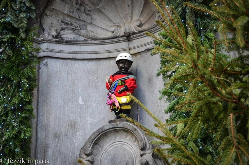 No idea as to why he's dressed as a climber.