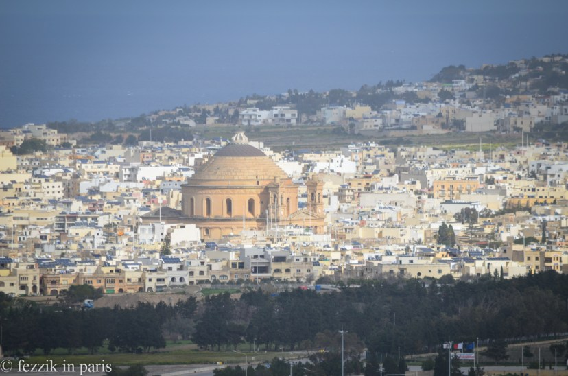 Mosta dome, as seen from the Mdina walls.