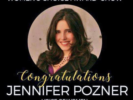 Feminist Media Critic Jennifer Pozner wins 2017 Women's Choice Award