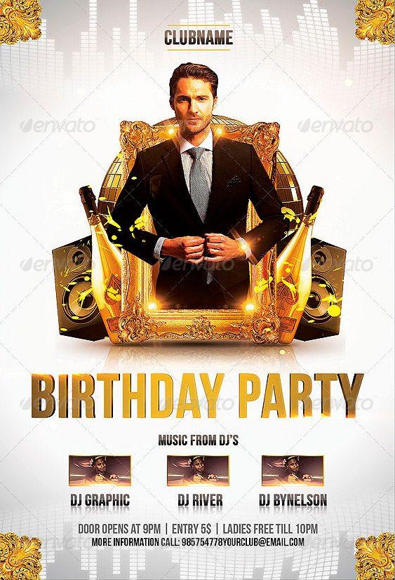 Birthday Party Flyer Template Download Birthday Psd Flyer Ffflyer